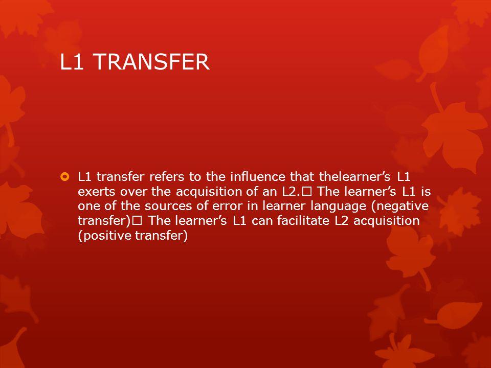 L1 TRANSFER
