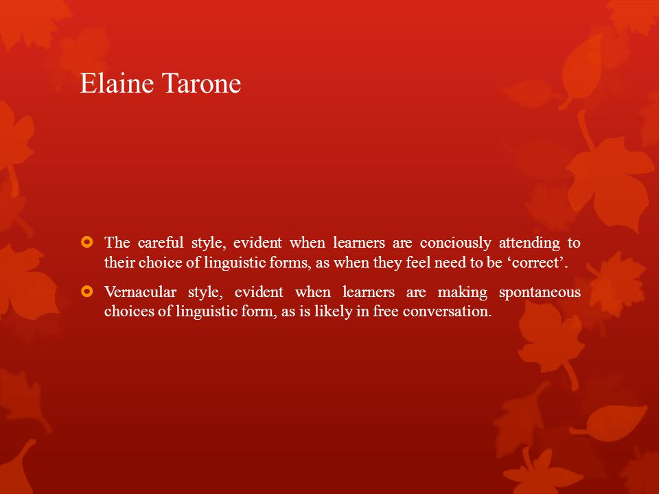 Elaine Tarone