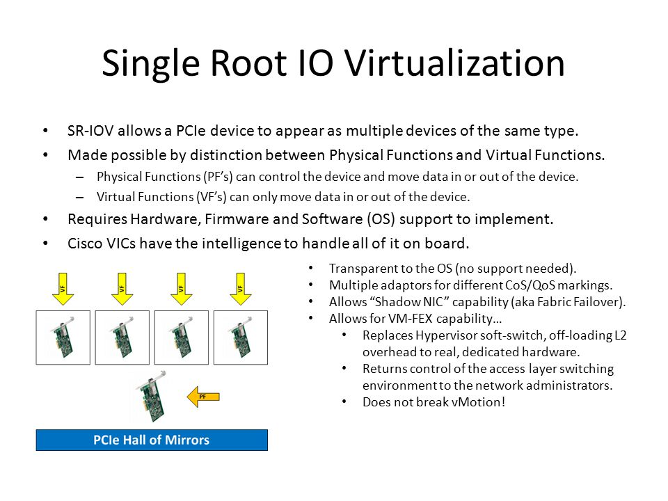Single Root IO Virtualization