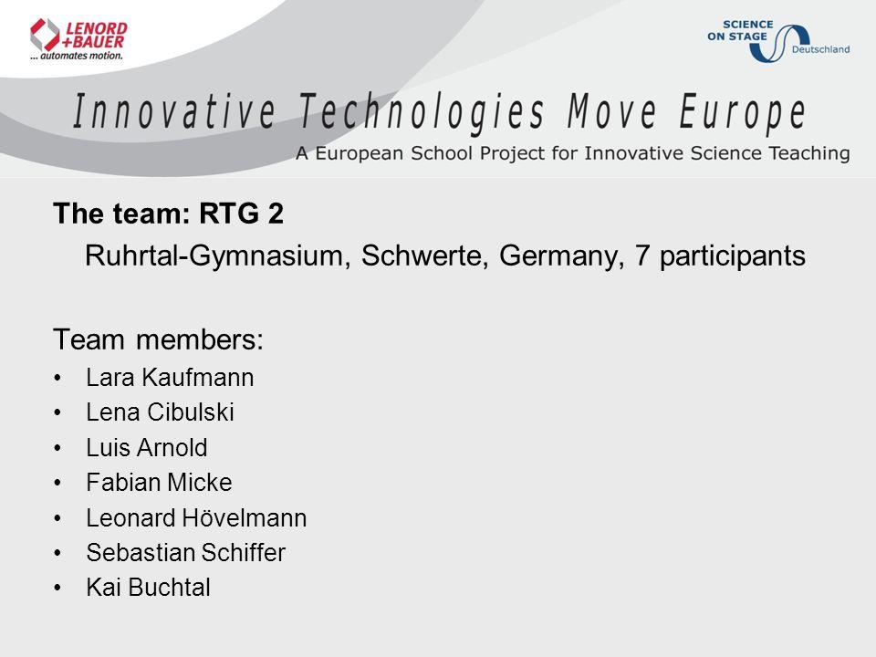 Ruhrtal-Gymnasium, Schwerte, Germany, 7 participants Team members: