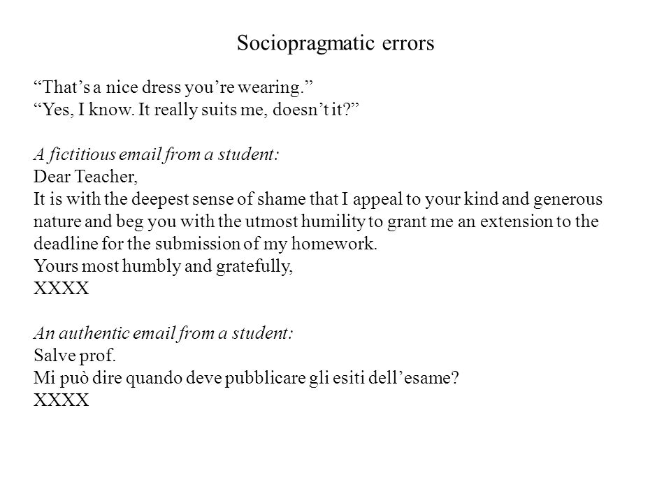 Sociopragmatic errors