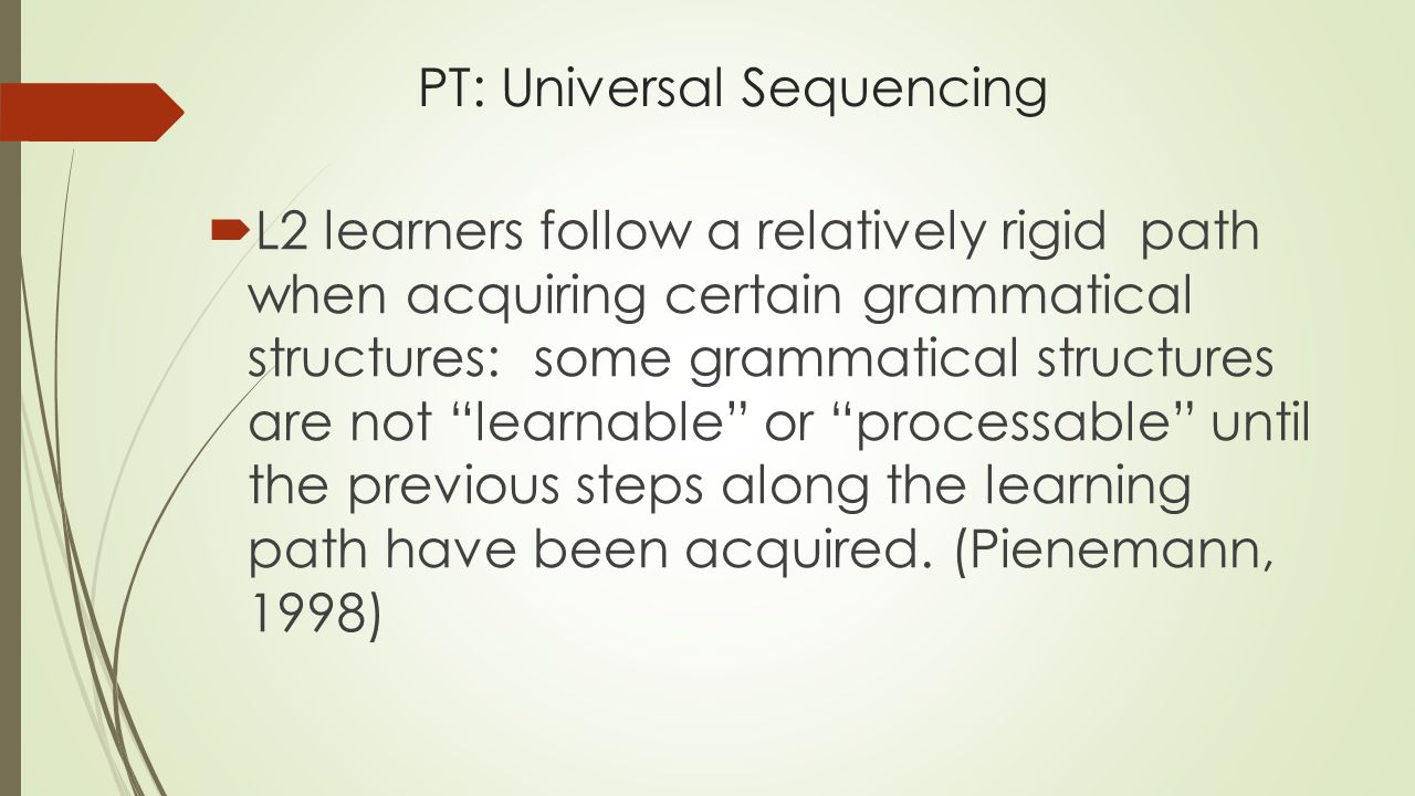 PT: Universal Sequencing
