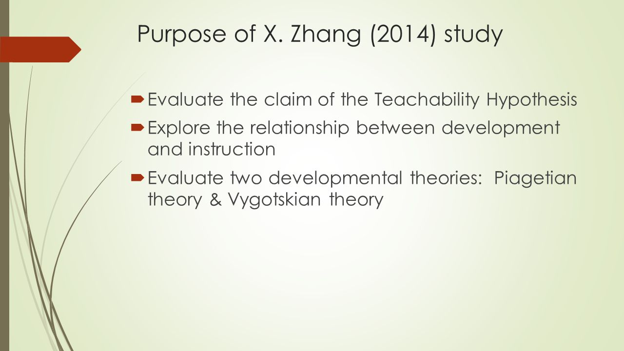 Purpose of X. Zhang (2014) study