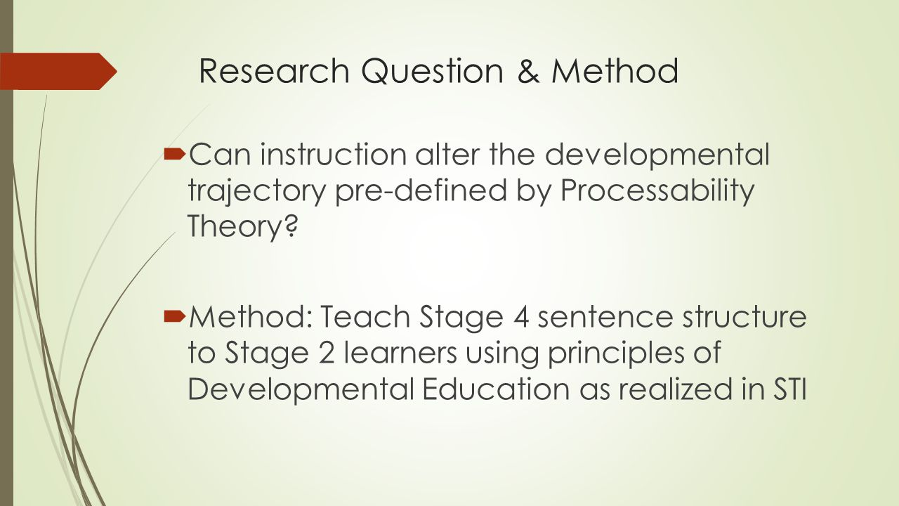 Research Question & Method