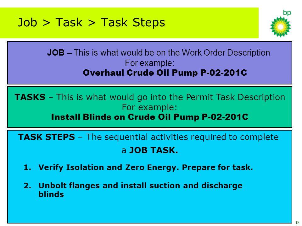 Job > Task > Task Steps
