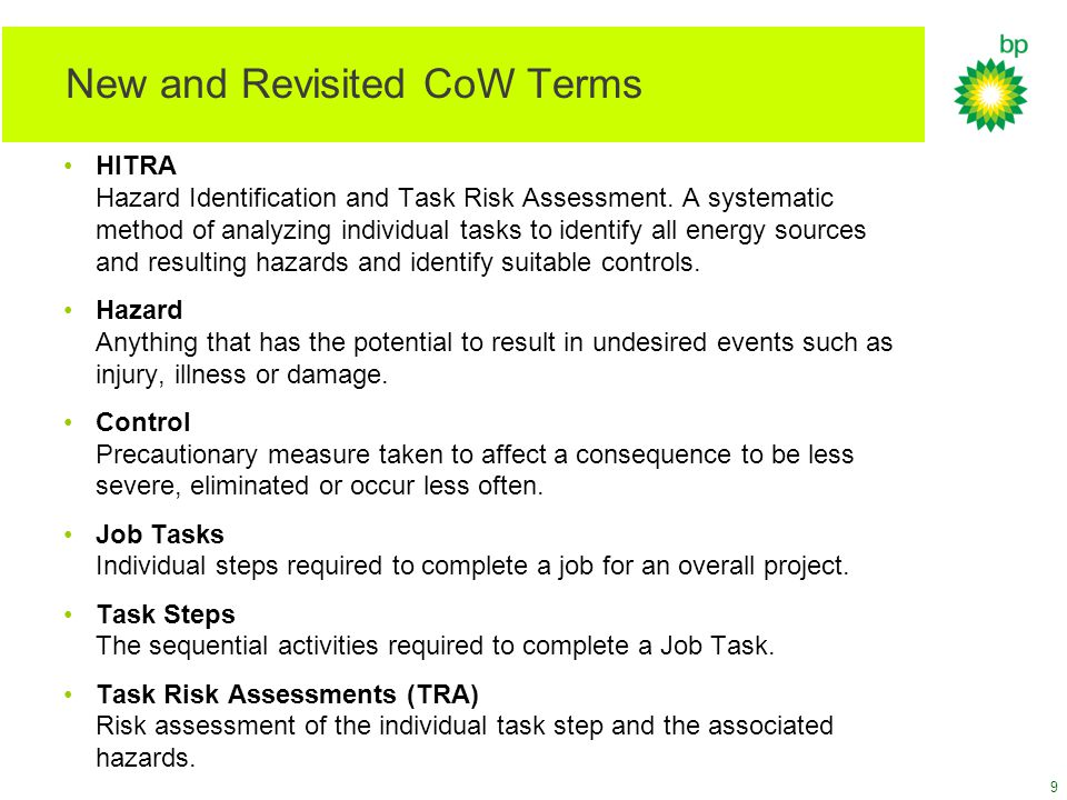New and Revisited CoW Terms