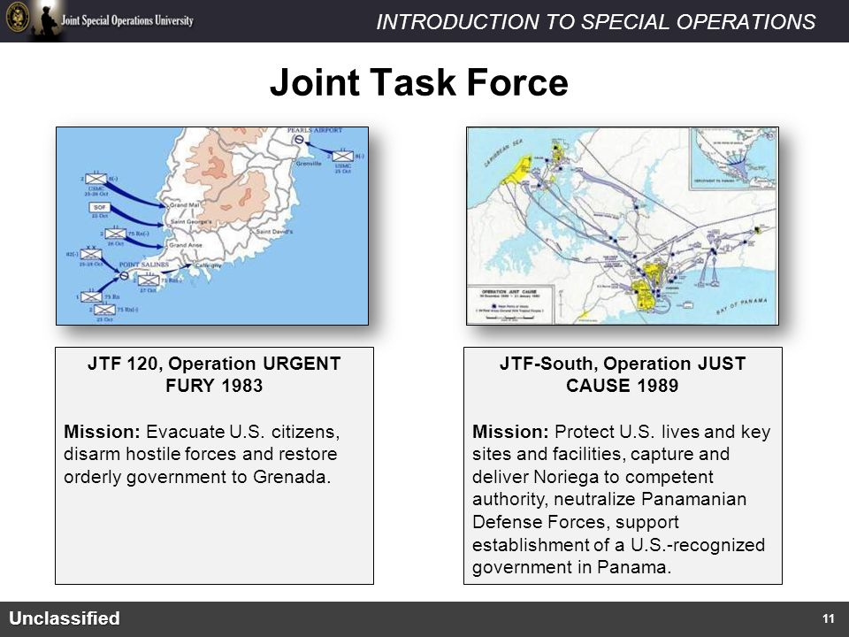 Joint Task Force JTF 120, Operation URGENT FURY 1983