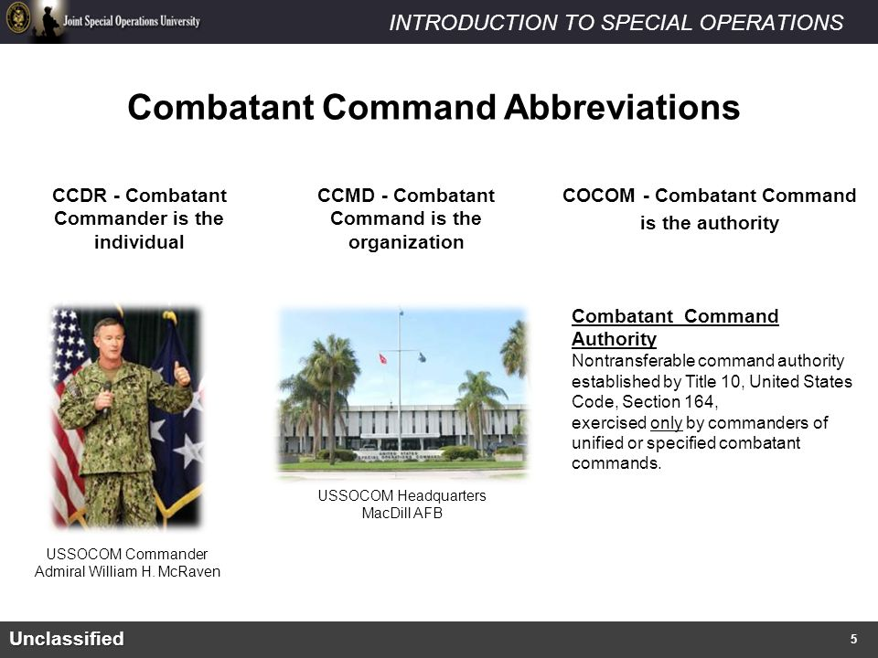 Combatant Command Abbreviations