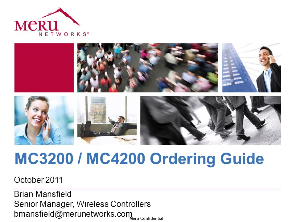 MC3200 / MC4200 Ordering Guide October 2011 Brian Mansfield