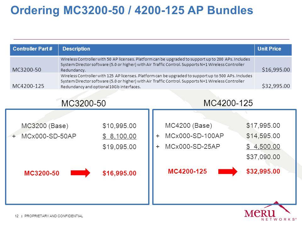 Ordering MC3200-50 / 4200-125 AP Bundles