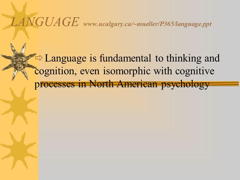 LANGUAGE www.ucalgary.ca/~mueller/P365/language.ppt