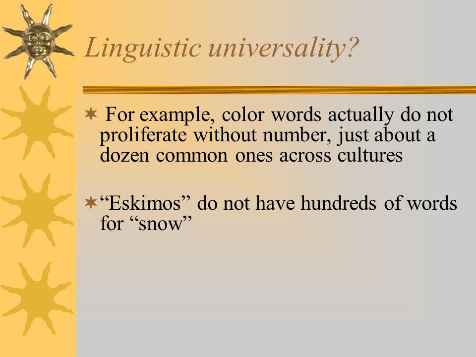 Linguistic universality