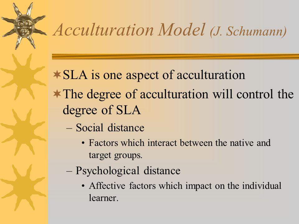Acculturation Model (J. Schumann)