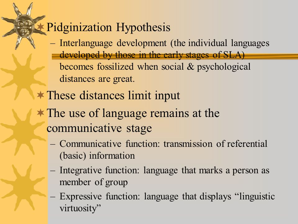 Pidginization Hypothesis