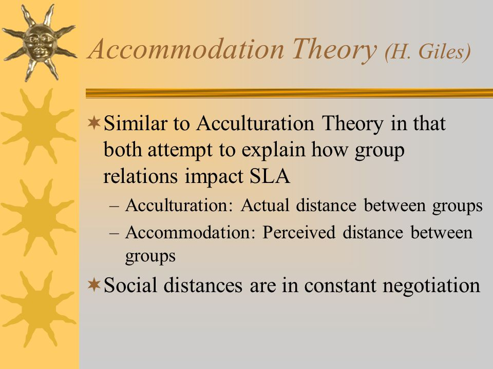 Accommodation Theory (H. Giles)