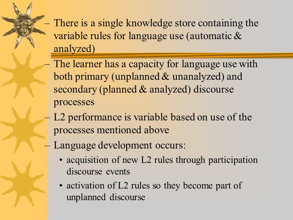 Language development occurs: