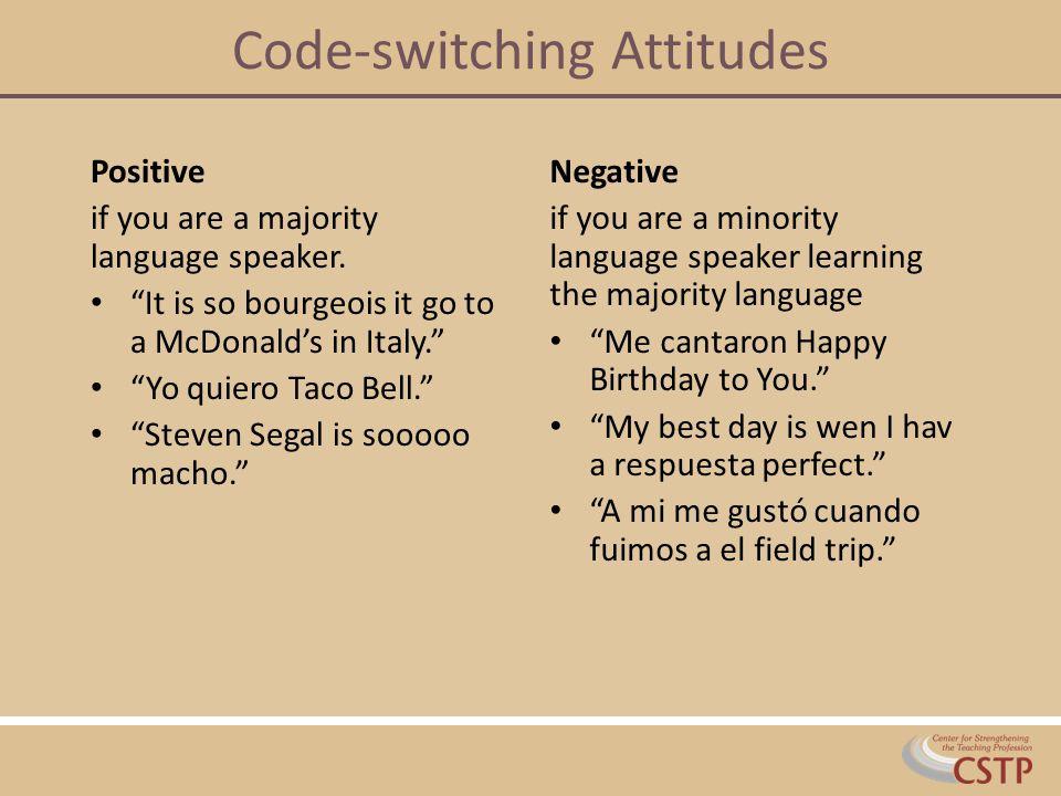 Code-switching Attitudes