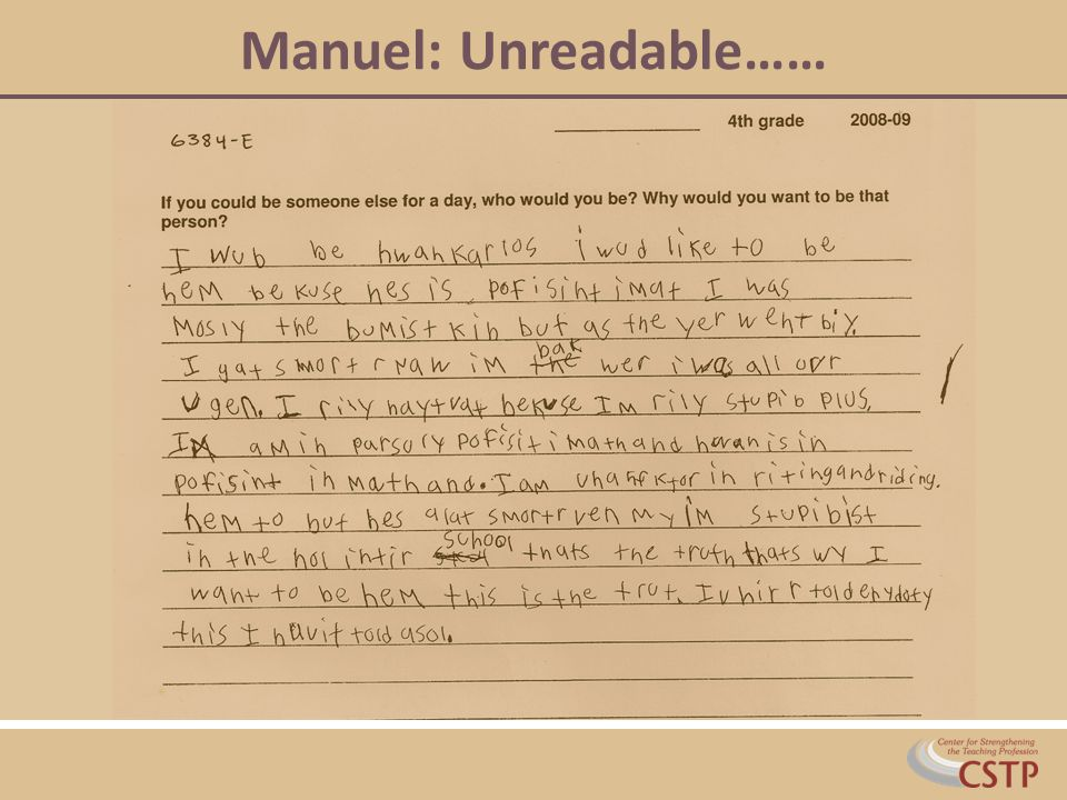 Manuel: Unreadable……