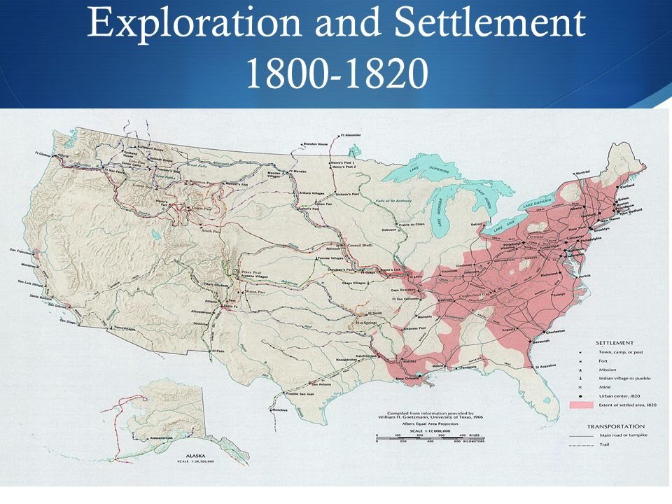 Exploration and Settlement 1800-1820
