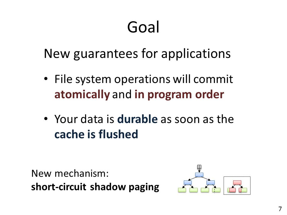 Goal New guarantees for applications