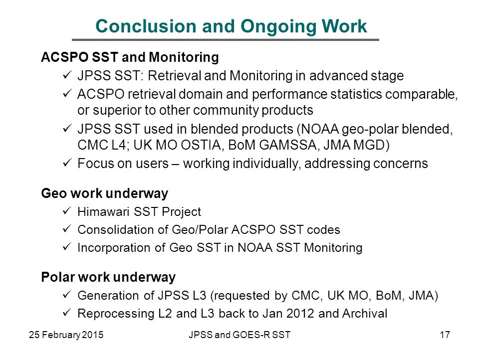 Conclusion and Ongoing Work