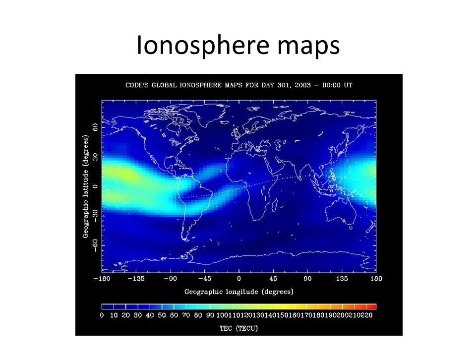 Ionosphere maps