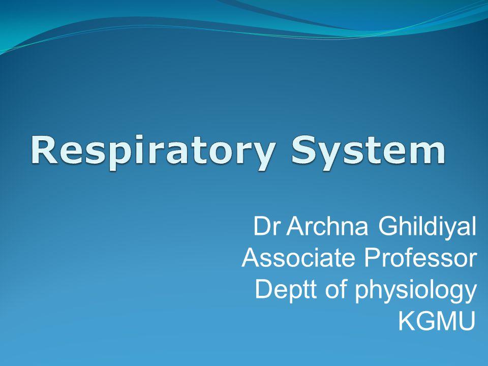 Dr Archna Ghildiyal Associate Professor Deptt of physiology KGMU