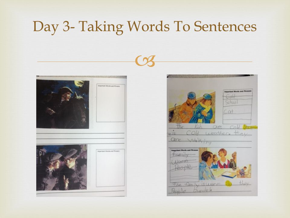 Day 3- Taking Words To Sentences