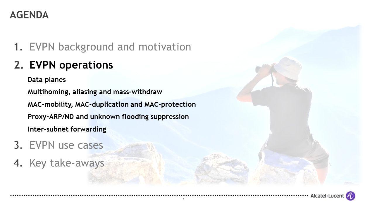 EVPN background and motivation EVPN operations
