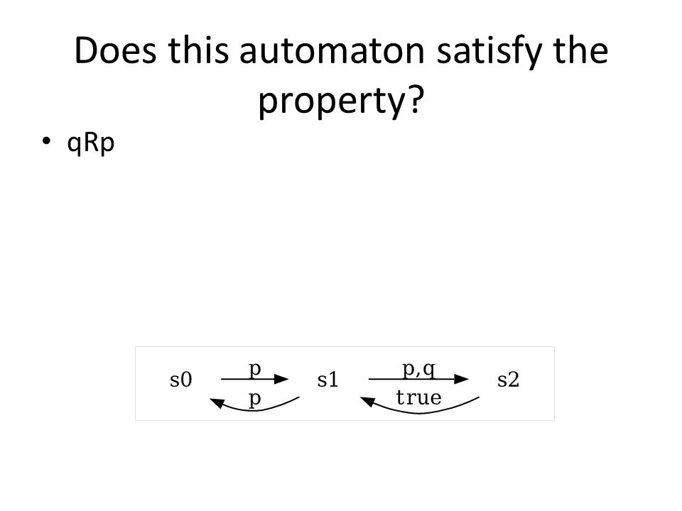 Does this automaton satisfy the property
