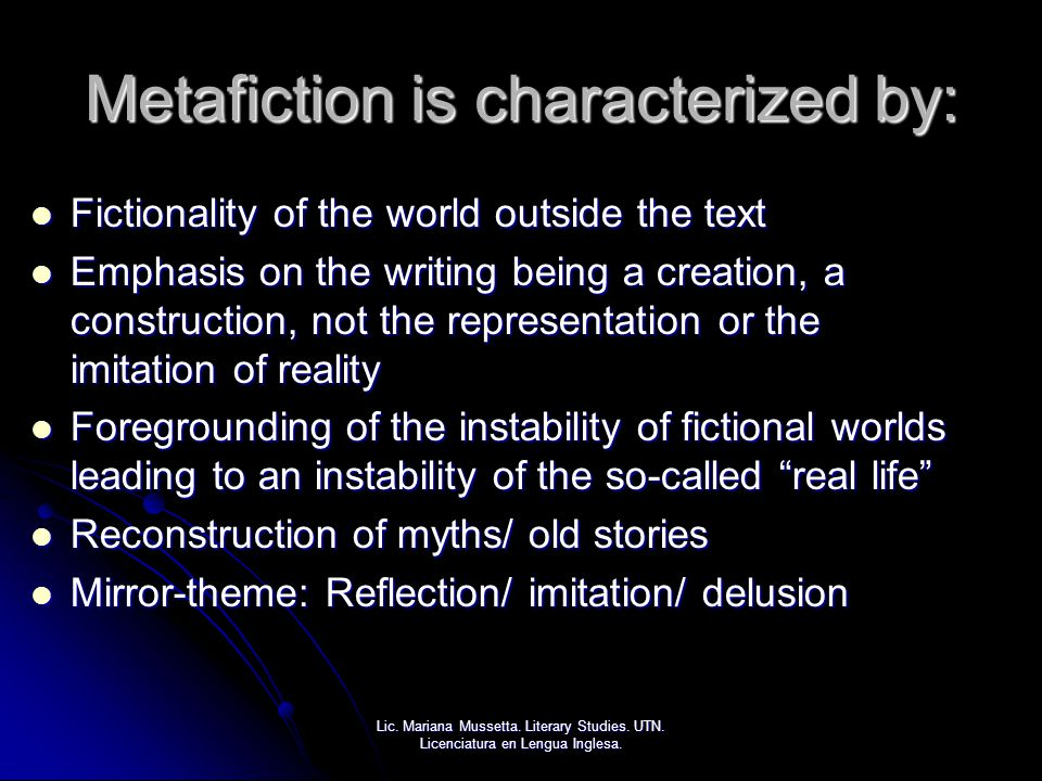 Metafiction is characterized by: