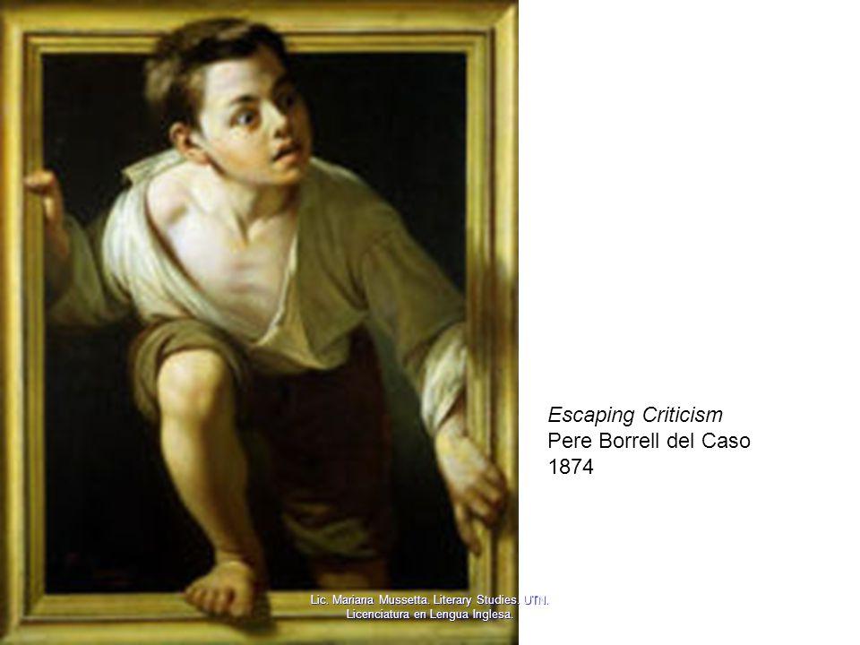 Escaping Criticism Pere Borrell del Caso 1874