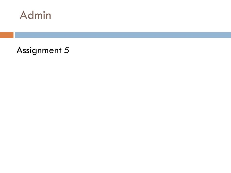 Admin Assignment 5