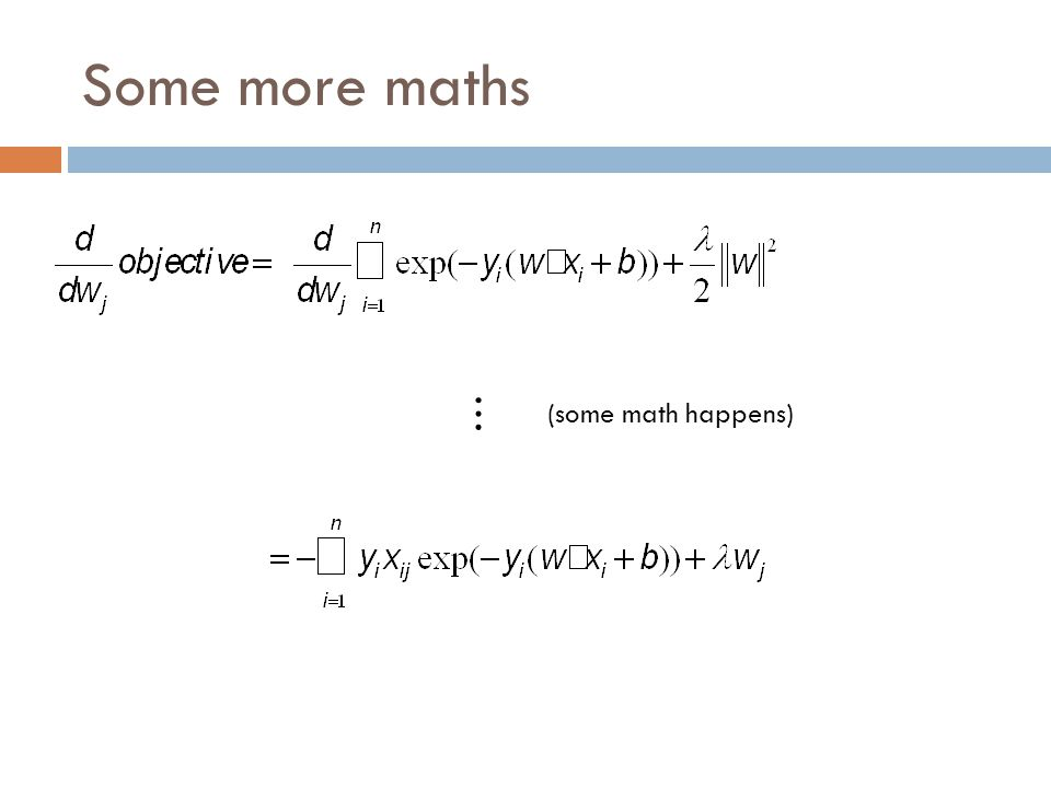 Some more maths … (some math happens)