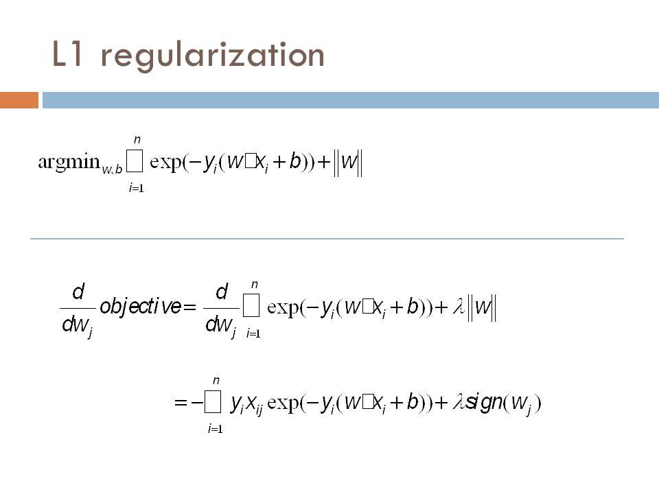 L1 regularization
