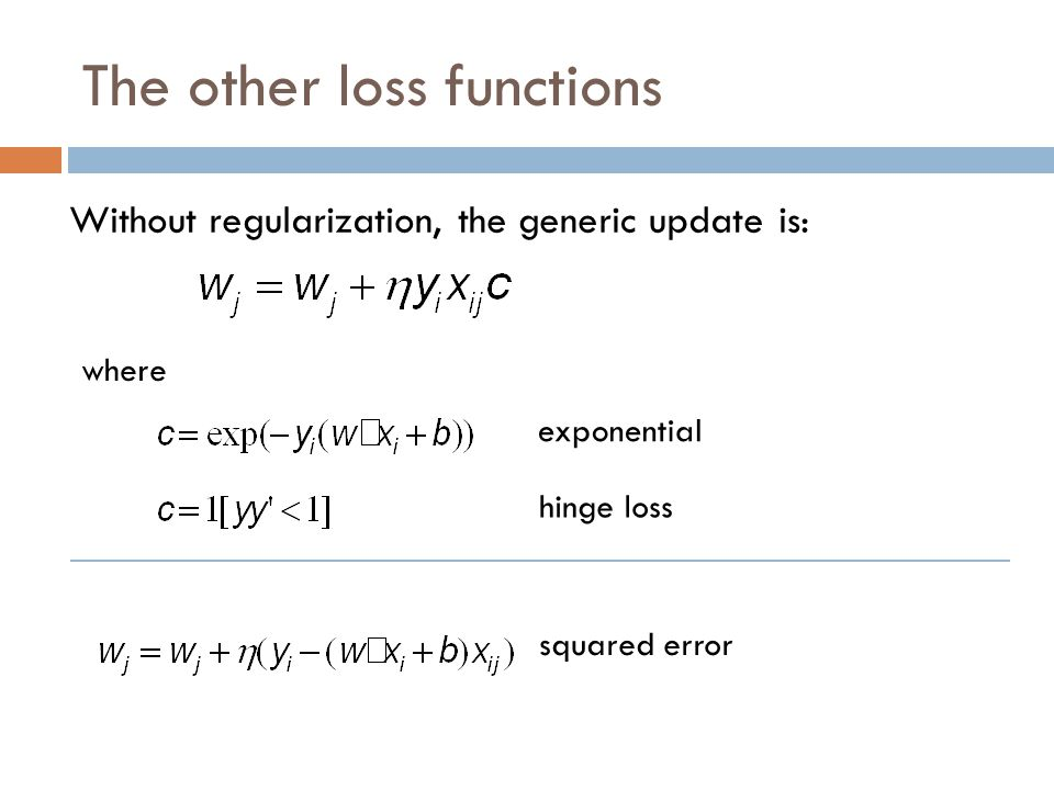 The other loss functions