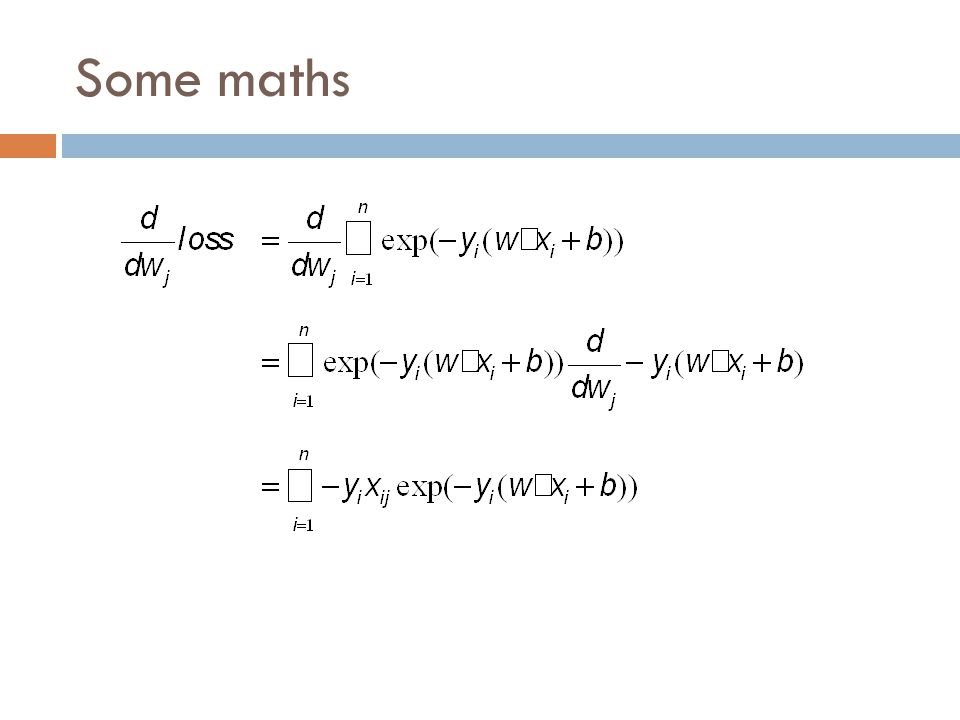 Some maths