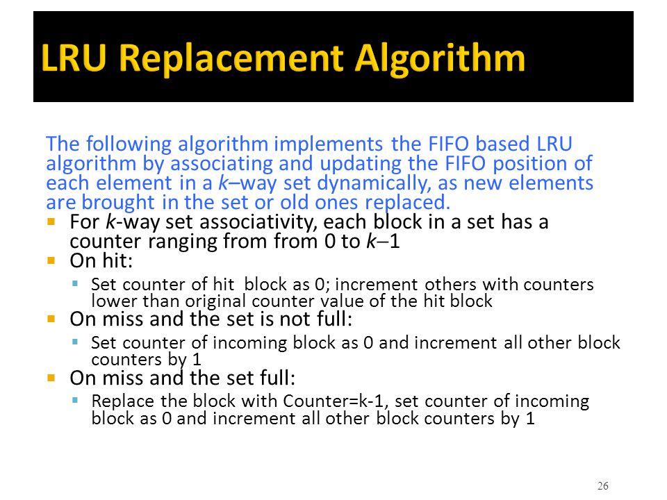 LRU Replacement Algorithm