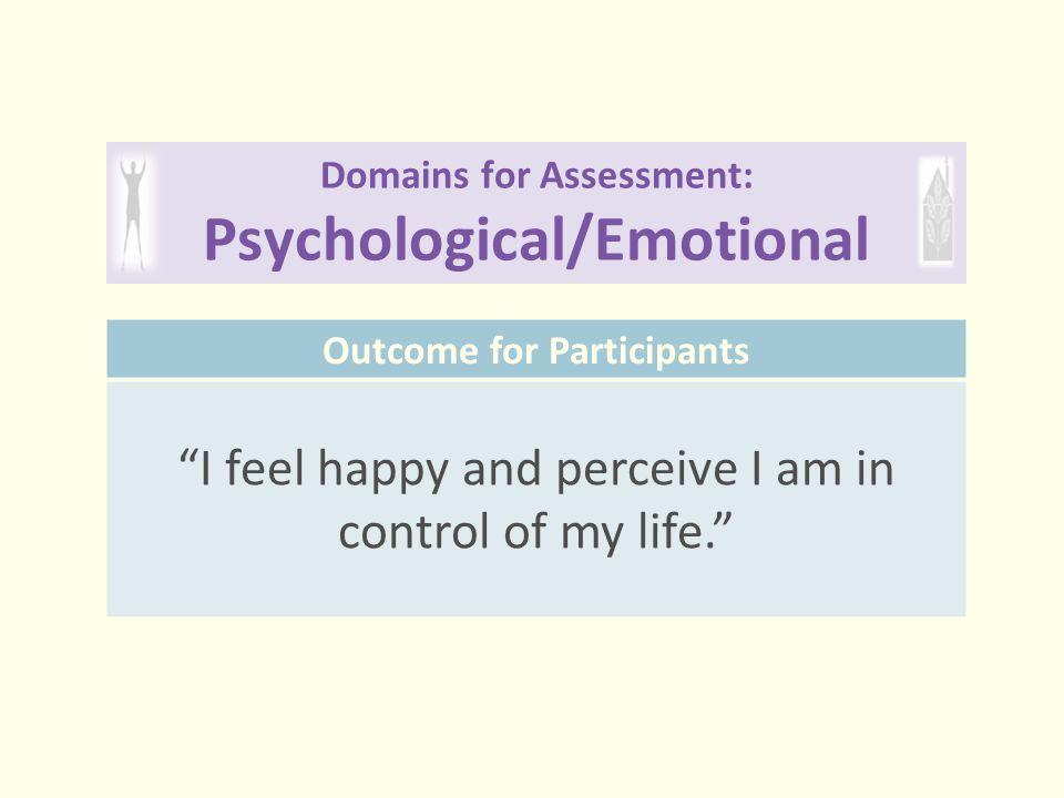Domains for Assessment: Psychological/Emotional