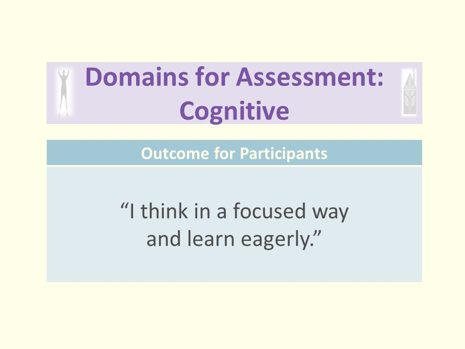 Domains for Assessment: Cognitive