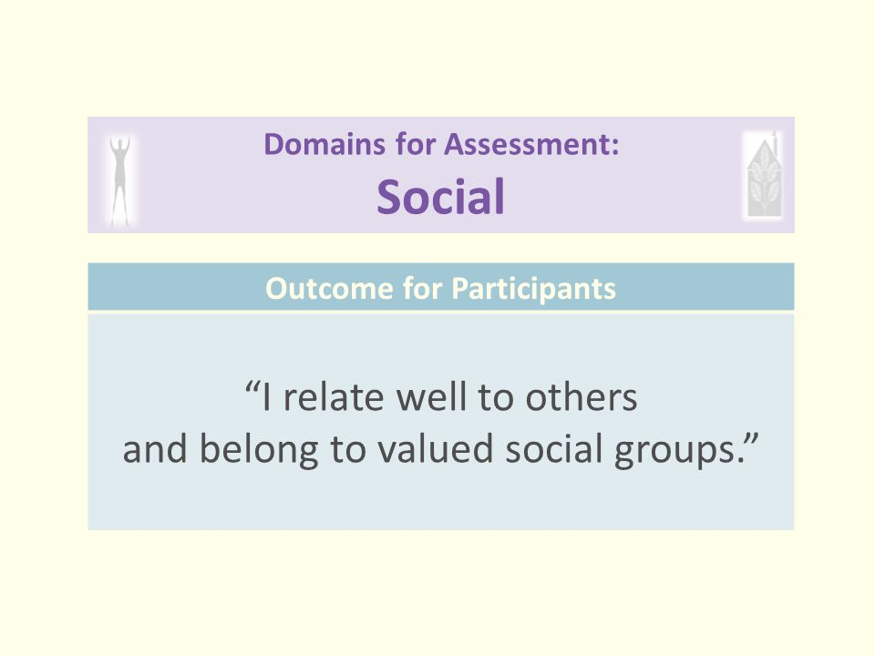 Domains for Assessment: Social