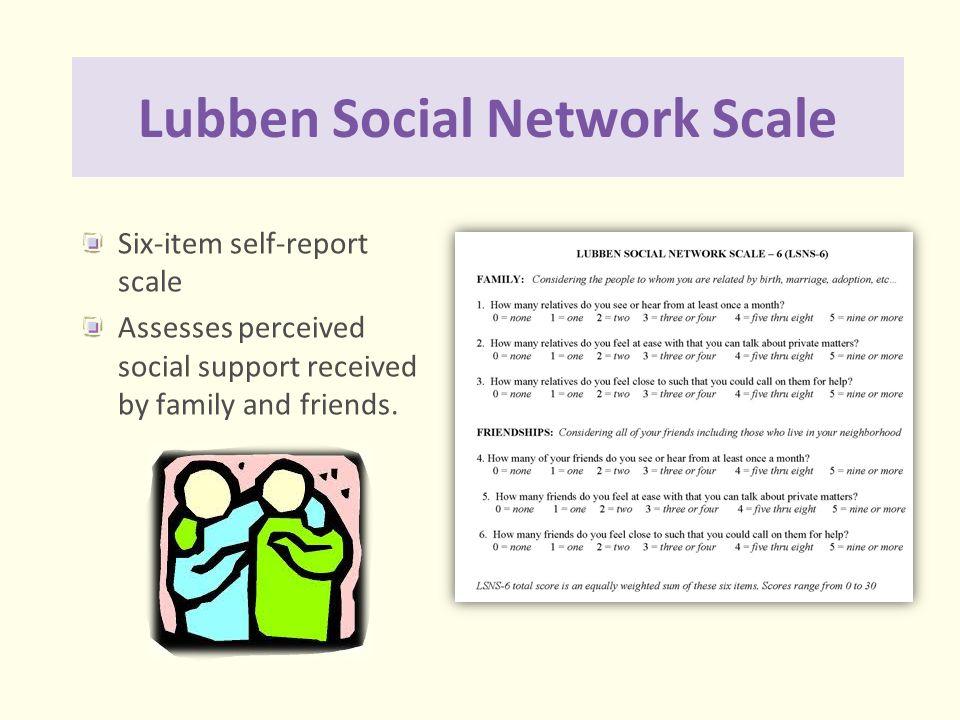 Lubben Social Network Scale