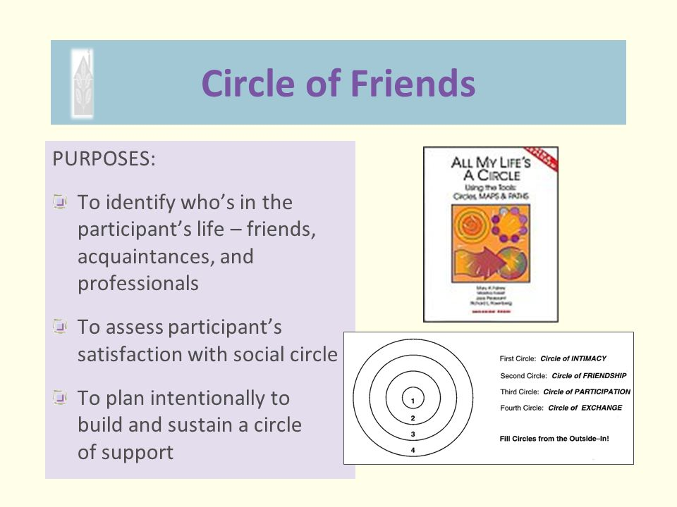 Circle of Friends PURPOSES: