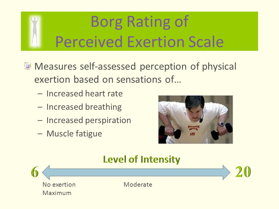 Borg Rating of Perceived Exertion Scale