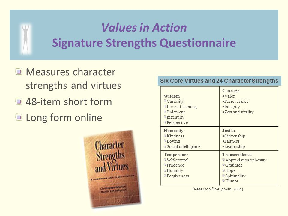 Values in Action Signature Strengths Questionnaire