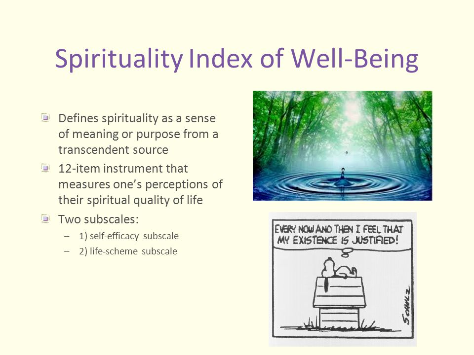 Spirituality Index of Well-Being