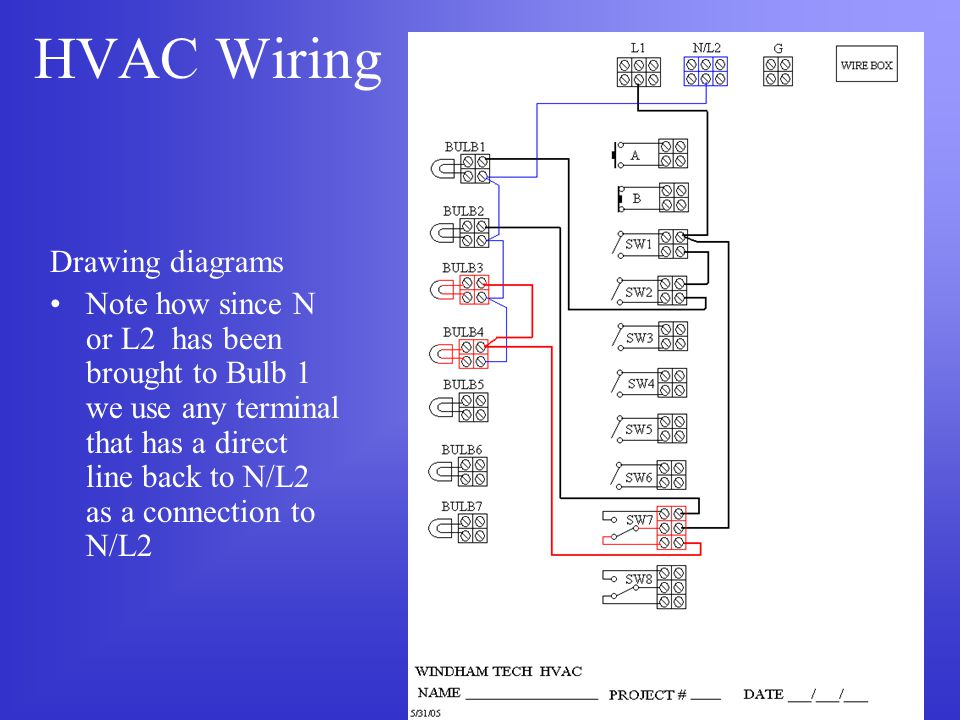 HVAC Wiring Drawing diagrams