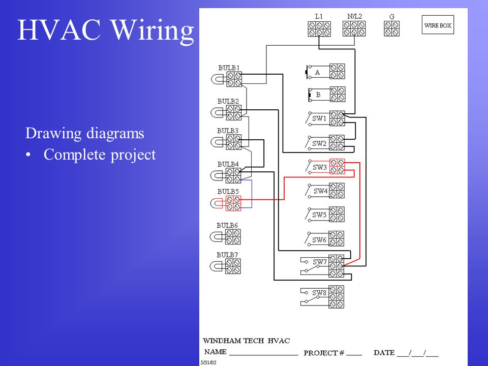 HVAC Wiring Drawing diagrams Complete project
