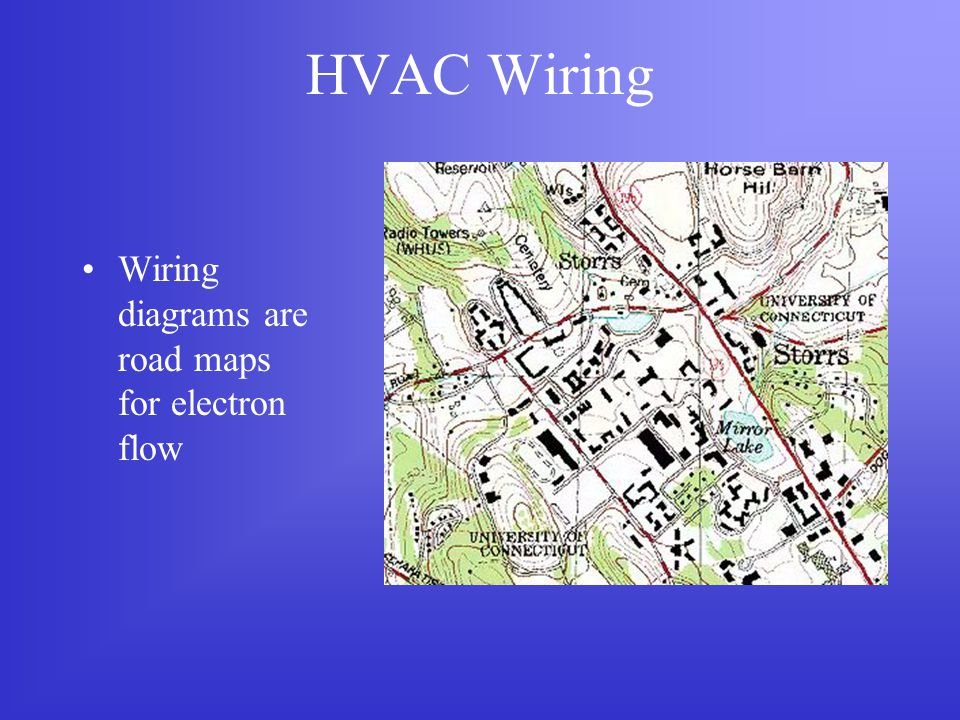 HVAC Wiring Wiring diagrams are road maps for electron flow