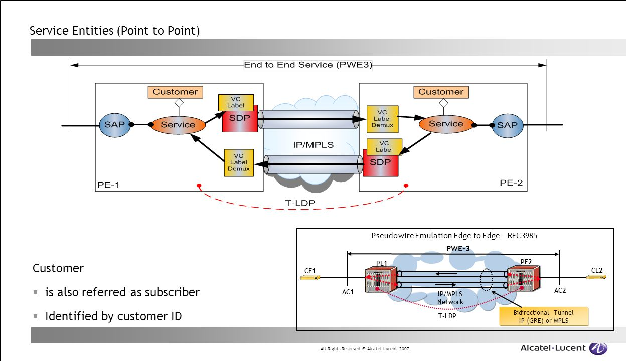 Service Entities (Point to Point)